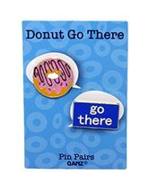 Pin Pairs Set Of 2 Lapel/ Hat Pins Tie Tacks w/ Colorful Enamel- Donut Go There - $6.88