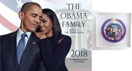 "2018 ""The Obama Family Calendar &  Button & Bracelet Gift Set - $13.75"