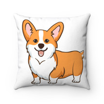 Pembroke Welsh Corgi Spun Polyester Square Pillow - $30.00