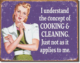 Cooking and Cleaning Concept Does Not Apply to Me Food and Beverage Metal Sign - $20.95