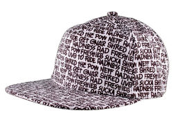 Neff Types Snapback Flat Brim Hat Baseball Cap Yellow Black & White image 3