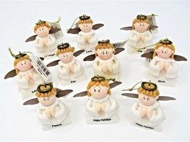 Angel Ornaments Lil Angel By Russ Berrie With Hangers Boys Girls Set Of ... - $8.99