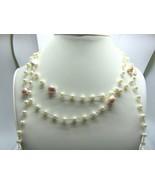 "Women's Fashion Freshwater Pearls Long Wrap Open Necklace 57"" - $28.61"