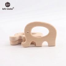Let's Make 20PCS Charm Solid Beech Wood Animal Elephants Jewelry Making ... - $33.56