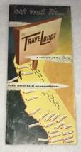 =Vintage Travel Lodge 1950's California Map Brochure Highway Hotels - $19.99