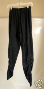 Comfy Black Jersey Pants with Tight Gathered Bottoms and Elastic Waist size M