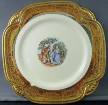 Vintage Homer Laughlin 22k Pacific China Colonial Plate - $9.90