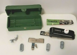 Vintage 1948 Singer 221 Sewing Machine Buttonholer 160506 Complete 3 Tem... - $23.38