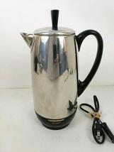 Farberware Vtg Percolator Electric Coffee Maker 142B Made In USA Chrome - $39.59