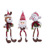 Darice Christmas Character Decoration: 3 Assorted Styles Santa Snowman M... - $24.99