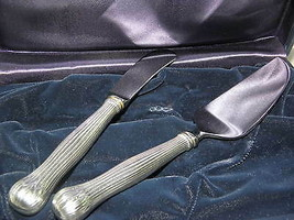 Tiffany & Co Faneuil Cheese Knife and Server Set in Sterling Silver Circ... - $395.99