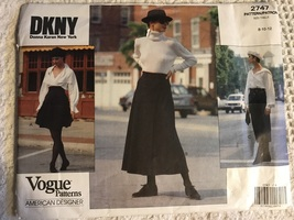 Vogue 2747 DKNY american designer Donna Karen New Your Size 8~12 Vintage... - $24.95