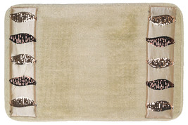 Popular Bath Shimmer Gold Bath Collection - 21 x 32 Banded Bathroom Rug - $26.99