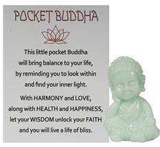 Gnz 1.5 Inch Pocket Buddah Charm/Shelf Sitter with Story Card (Harmony) - £3.34 GBP