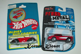"Lot of 2 Diecast Vehicles - Hot Wheels ""Auburn"" & Fresh Metal ""Corvette"" - NIP - $10.65"