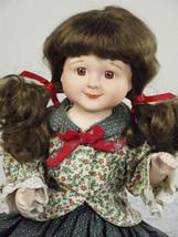 Doll Lovely Brown Hair Tiny Porcelain Beauty - $26.99