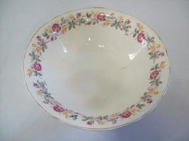 "Vintage Edwin Knowles Semi Vitreous Floral Bowl 8 3/4"" 1760-E-1 Made USA - $15.58"