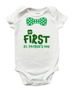 My First St Patricks Day Romper, My First St Patricks Day Shirt for Boys... - $9.99