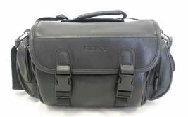 Genuine Sony DSLR SLR Digital Camera Camcorder Black Leather Bag Case w/... - $28.04