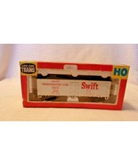 HO Scale Life-Like Swift Refrigerator Line Box Car, White, #1020 BNOS - $14.85
