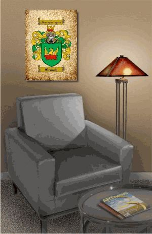 Gallery Wrapped Canvas Coat of Arms