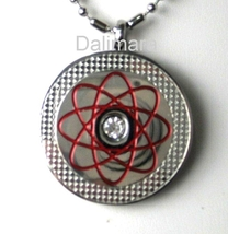 QP18 Quantum Pendant Red with Center Piece Crystal - New - $22.95