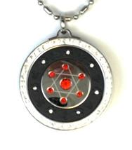 QP12 Quantum Pendant Ruby Red Crystals - Round - $24.95
