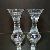"2 (Two) MIKASA NEW Lead Crystal Candle Holders ""Ice Palace"" Candlesticks... - $20.75"