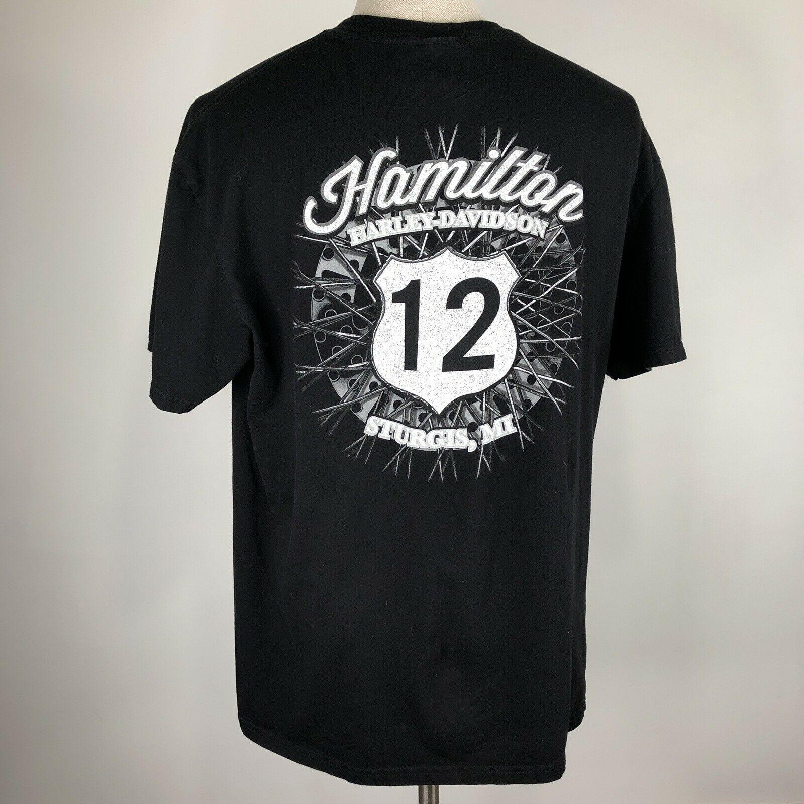 Harley Davidson T Shirt Skeleton Clown Size XL Sturgis MI Black Motorcycle image 6