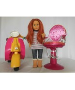Our Generation Scooter Hot Pink + Doll with Long Red Hair +  Salon Chair - $37.64