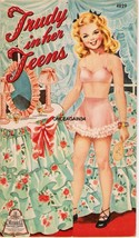 VINTAGE UNCUT 1943 TRUDY IN HER TEENS PAPER DOLLS~#1 REPRO~NOSTALGIC & A... - $16.99