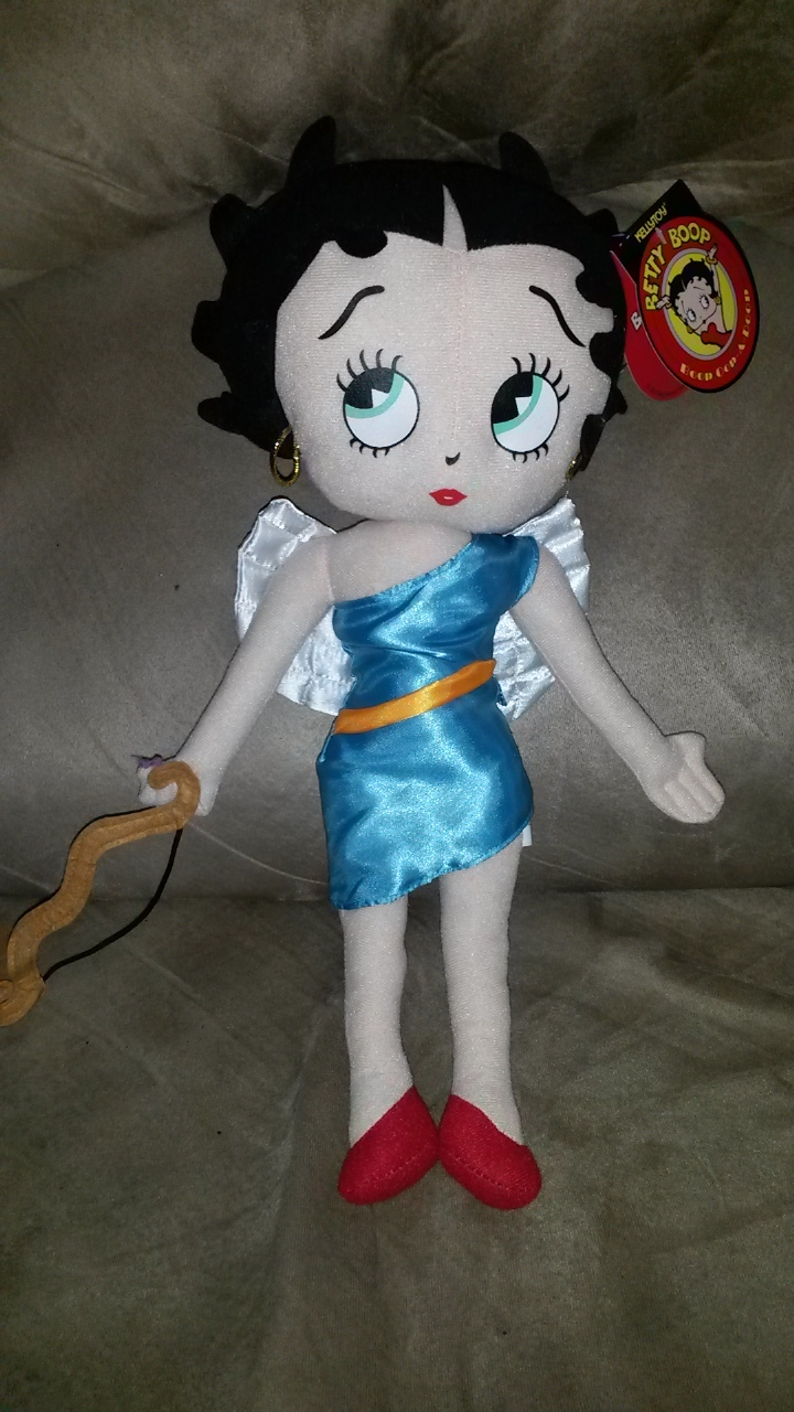 Primary image for 2016 BETTY BOOP VALENTINE'S DAY CUPID BLUE Brand New Licensed Plush NWT Tag 16""