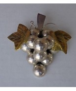 925 Mexico Sterling Silver Large Cluster of Grapes Pin/ Pendant  - $34.99