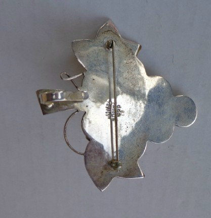 925 Mexico Sterling Silver Large Cluster of Grapes Pin/ Pendant