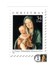 "OVERSIZED POSTCARD- USPS FDC- 2001 CHRISTMAS STAMP-COSTA'S ""VIRGIN & CHI... - $2.45"