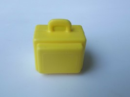 Vintage Fisher Price Little People Yellow  Airport Suitcase Luggage #996 - $7.69