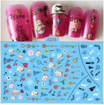 """HS Store - 1 Sheet """"F273"""" 3D Nail Art Stickers Christmas Decoration - $2.64"""