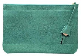 Dooney & Bourke Pebbled Leather Oversized Belize Anna Turquoise Blue Clu... - $264.33 CAD