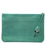 Dooney & Bourke Pebbled Leather Oversized Belize Anna Turquoise Blue Clu... - $199.50