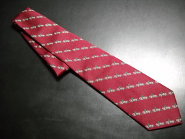 Alynn Neckwear Neck Tie Oglebay Resort Dark Red Diagonal Stripes of Ogle... - $10.99