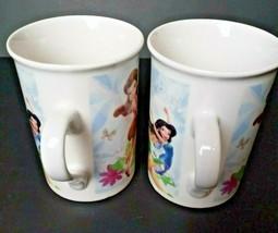 2011 Disney Tinkerbell Fairy Friends Butterflies Flowers Coffee Mug Lot of 2 - $12.61
