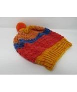 Handcrafted Knitted Hat Textured Pom Pom 100% Acrylic Unisex Kids 2-4 St... - $25.94