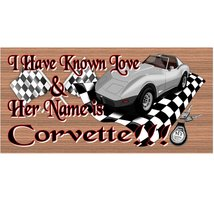 Corvette Wood Signs -GS 1257 - Corvette Plaque - $8.99+