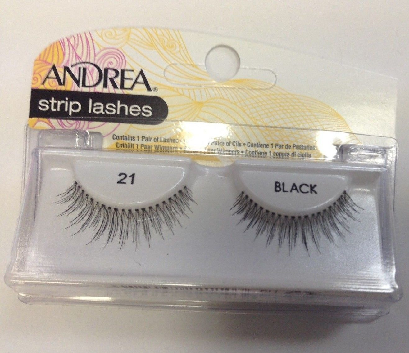 Primary image for Andrea's Strip Lashes Fashion Eye Lash Style 21 Black - (Pack of 6)