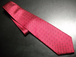 Cleveland Museum of Art Neck Tie Bright Reds with Museum Logos - $10.99