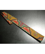 Rooster Neck Tie Skinny Hand Printed Wool - $9.99
