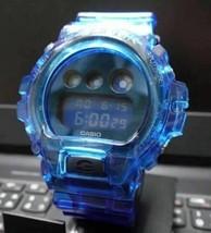 Rare G-Shock All Blue Skeleton Blue Blue Clear Custom - $213.59