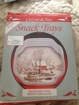 Currier & Ives Snack Trays Set of 4 - $6.35