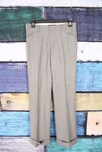Ralph Lauren Black Label Gray Blue Striped Wool Cashmere Dress Pants 4 C... - $98.99