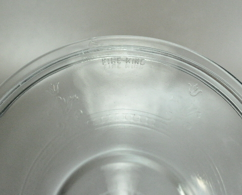 Fire King Philbe Blue Sapphire 7 Inch Casserole Lid Cover